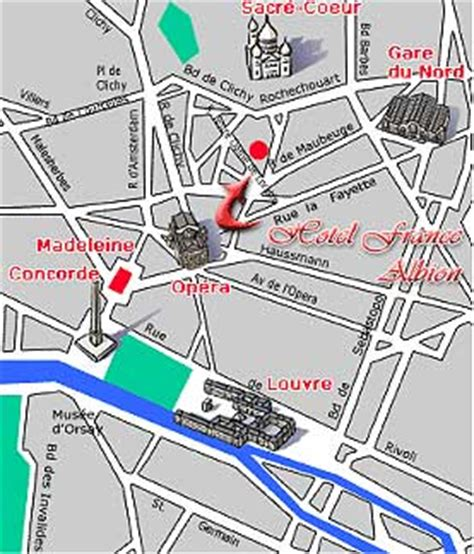 porte maillot gare du nord hotel albion near the garnier opera how to get to our hotel plan map route