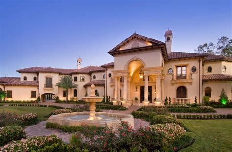 stunning mediterranean mansion  houston tx built
