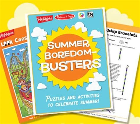Summer Boredom Busters: Free Printable Activities