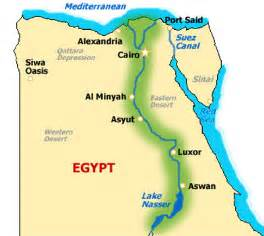 Ancient Egypt Nile River Valley Map