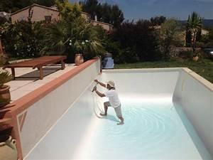 Piscine Liner Blanc : coulage b ton et mise en eau de piscine desjoyaux jce piscines ~ Preciouscoupons.com Idées de Décoration