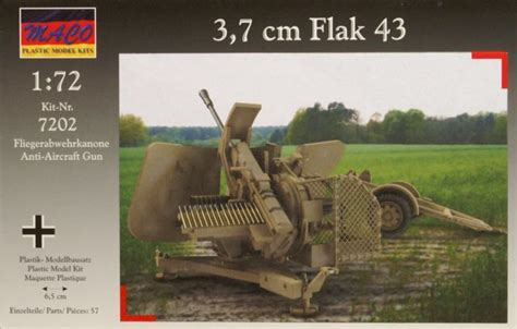3 7 cm flak 43 maco nr 7202 modellversium kit ecke
