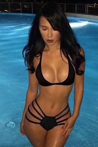 Black Pretty Womens Sexy Halter Crop String Bikini - PINK