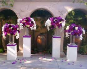 wedding ceremony flowers gorgeous purple flowers at the altar ceremony flowers wedding decor wedding backdrop
