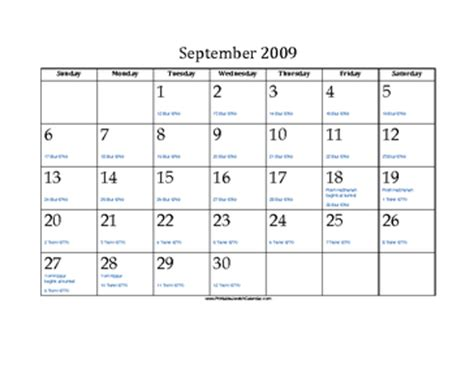 september  calendar  jewish equivalents  holidays