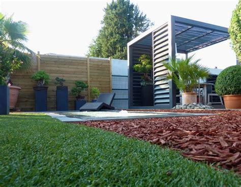 Aménagement Jardin Extérieur : Amenagement Jardin Contemporain Deco Jardin Exterieur Pas