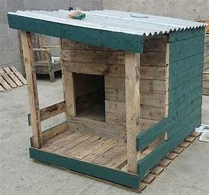 How to build a dog house with pallets for Built dog houses