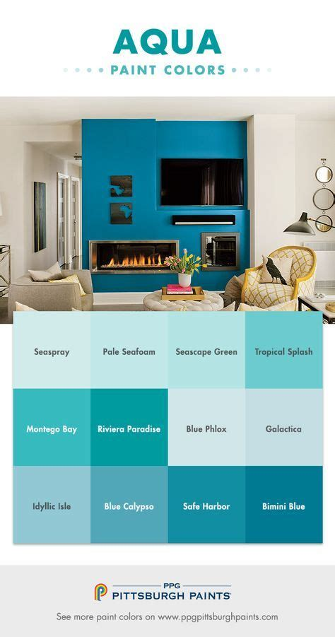 Calm Bathroom Colors by Aqua Paint Colors From Ppg Pittsburgh Paints Aquas Are