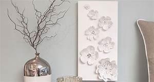 Paper flower wall art create