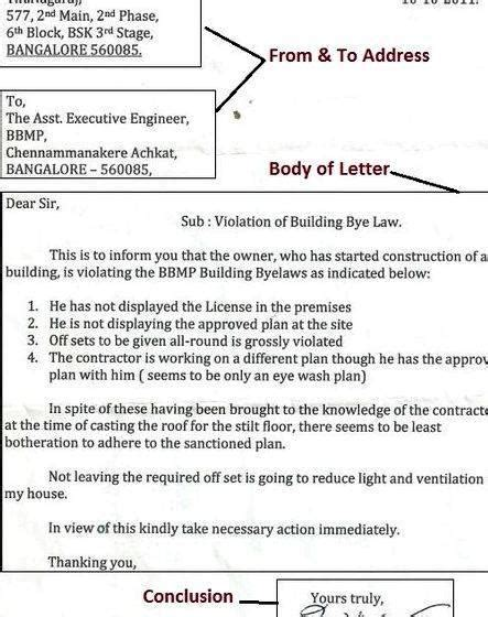 letter writing rules informal economy