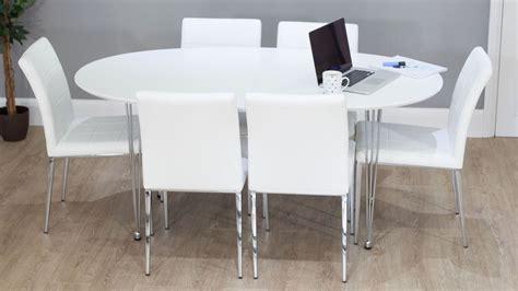 white oval extending dining table stocktonandco