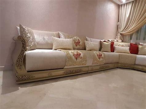 gros coussin pour canapé salon marocain design ée 2018 décor salon marocain