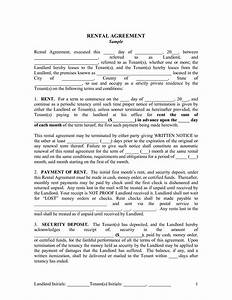 best photos of printable lease agreements for landlords With landlord tenant contract template