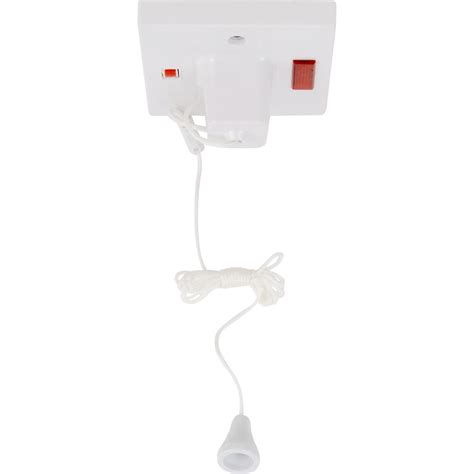 ceiling switch pull cord 45a neon square toolstation