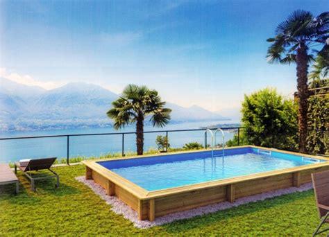 rechteck pool komplettset massivholzpool rechteck weva sunday pools onlineshop
