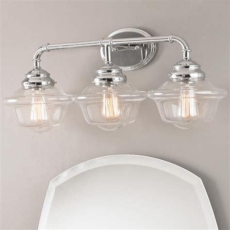 Chrome Light Fixtures Bathroom by Timeless Schoolhouse Bath Light 3 Light Timeless