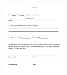 Sle Of A Bill Of Sale For An Automobile by Business Bill Of Sale Template Selimtd