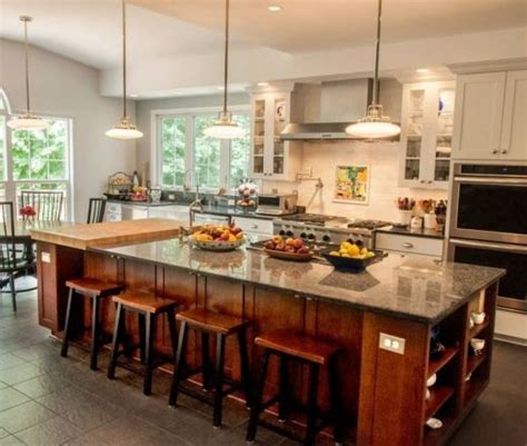 Excellent kitchen with island layout  sink at window