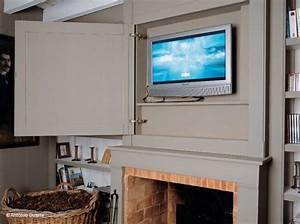 17 meilleures idees a propos de cheminee de television sur With idee couleur mur salon 9 personnalisez votre salon avec le meuble tv industriel