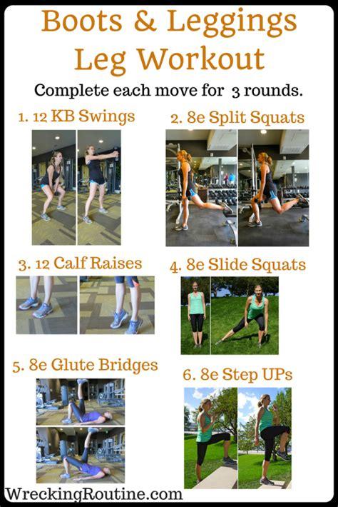leggings boots workout leg wreckingroutine