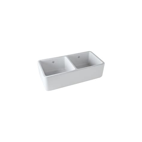 shaws original apron front sink rohl rc3719wh white 37 quot handcrafted double basin