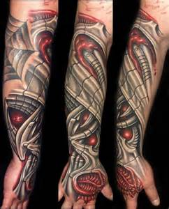 Biomechanical Arm Tattoo