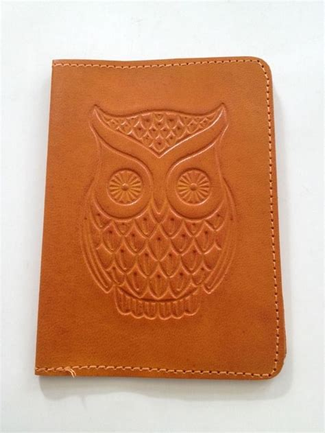 3rd anniversary gift ideas for leather passport cover owl 3rd anniversary gift yellow