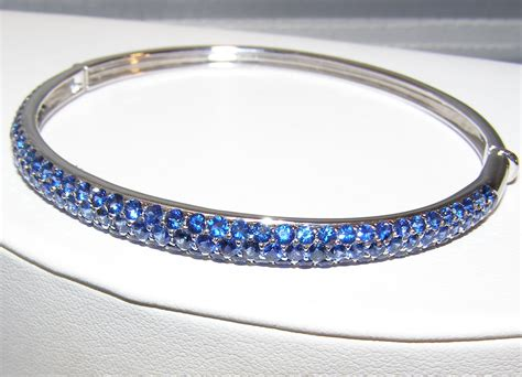 Ceylon Cornflower Blue Sapphire Pave Bangle Bracelet 18kwg. Diamond Cross Chains. Ladies Anklets Shop Online. Pad Sapphire. How Much Does A Gold Bangle Cost. Rose Gold Jewelry. Diamond Half Eternity Band. Black Pearl Earrings. Antler Rings