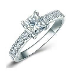 wedding rings on sale 1 00 carat princess cut engagement ring on sale jeenjewels