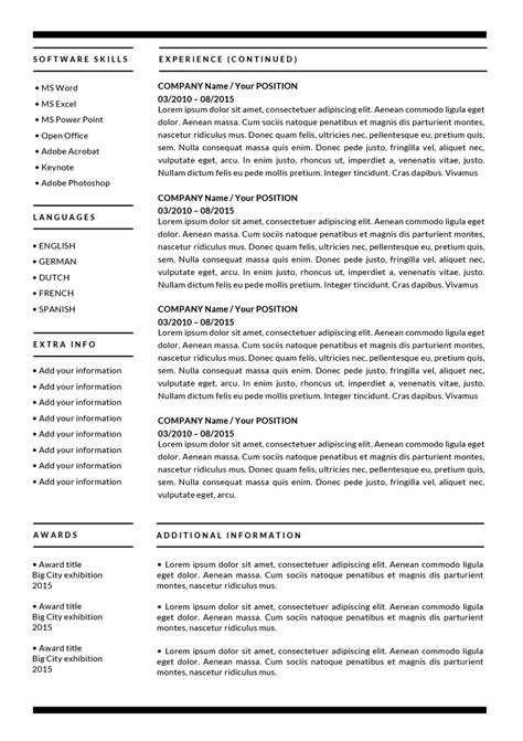 A Resume by The Barbara Resume