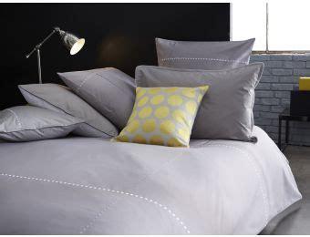 linge de lit gris blanc brod 233 parure de lit linge de maison housse de couette percale