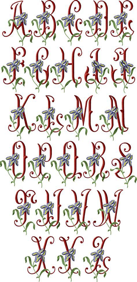 iris initials alphabet