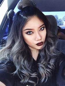 silver ombre   My Style   Pinterest   Top bun, Your hair ...
