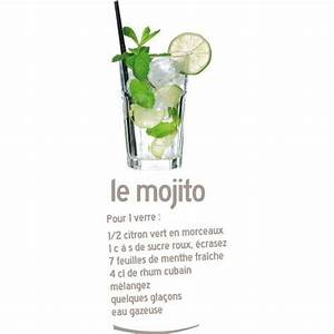 STICKERS FRIGO RECETTE MOJITO (FRIGO006)