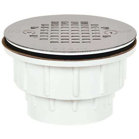 shower strainer sioux chief 2 in pvc shower drain with strainer 825 2ppk
