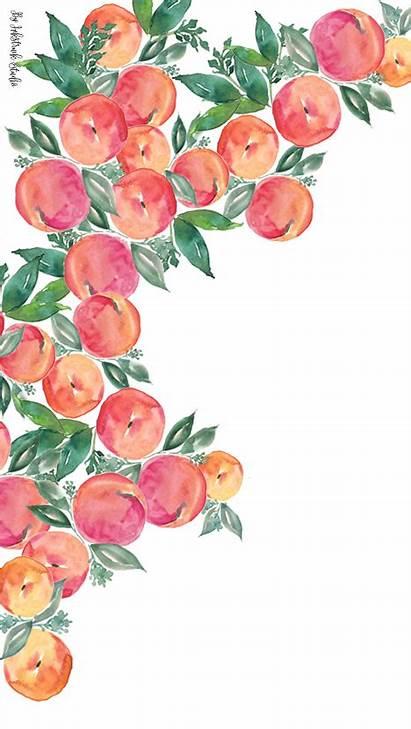 Peach Watercolor Iphone Wallpapers Desktop Inkstruck Acuarela
