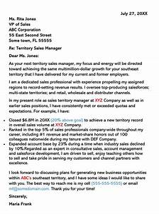 Online Cover Letter Template Sales Cover Letter Examples Samples With Writing Tips