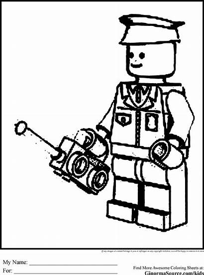 Coloring Lego Pages Police Helicopter Printable Guard