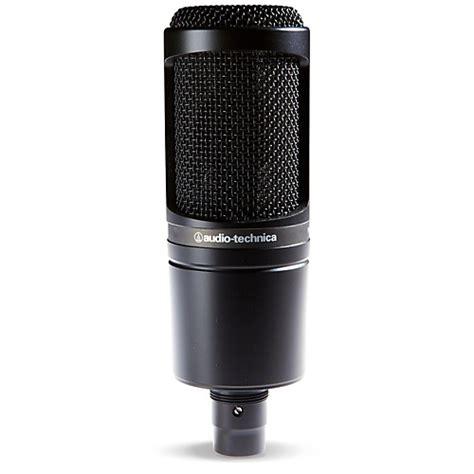 audio technica at2020 large diaphragm condenser microphone musician s friend
