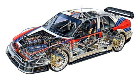 Alfa Romeo 155 V6 TI ITC 1996 cars races cutaway technical ...