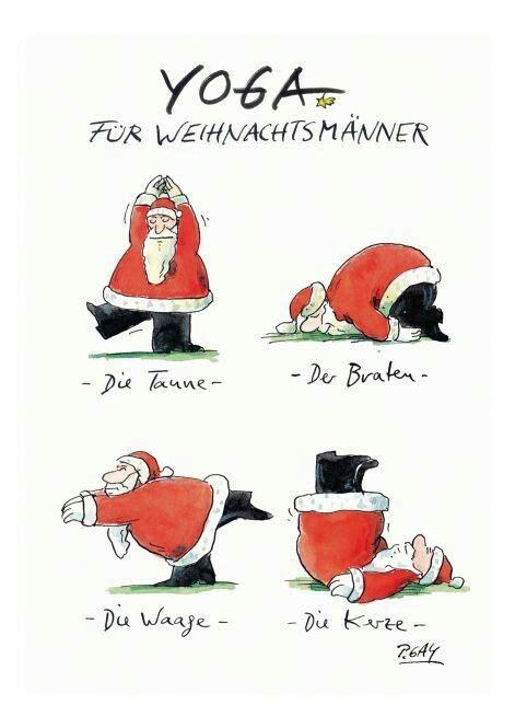 yoga fuer weihnachtsmaenner gesundheit merry christmas