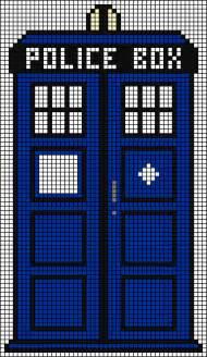 Doctor Who TARDIS Cross Stitch Pattern