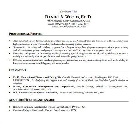 sample academic resume    documents   word