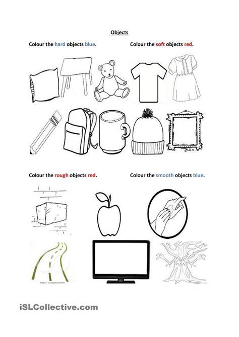 soft  hard rough  smooth kindergarten worksheets