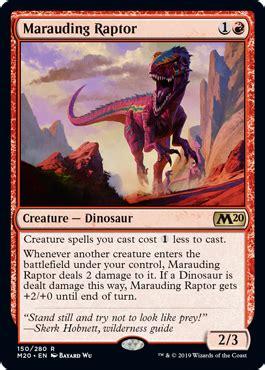 marauding raptor  core set  spoiler