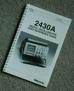 Tektronix 2430a User Reference Guide  070