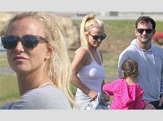 Britney Spears and brother Bryan at the park with his cute