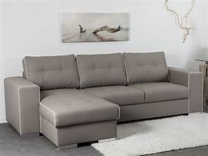 canape angle reversible convertible simili taupe tenerife With tapis rouge avec canapé d angle en simili cuir