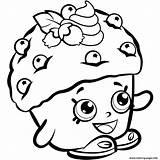 Shopkins Coloring Printable Mini Season Muffin Colorear Paginas sketch template