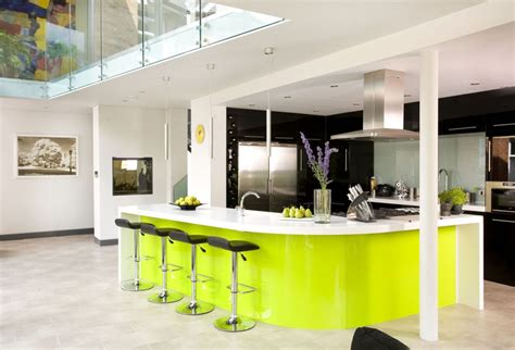 modern kitchens  curved kitchen islands